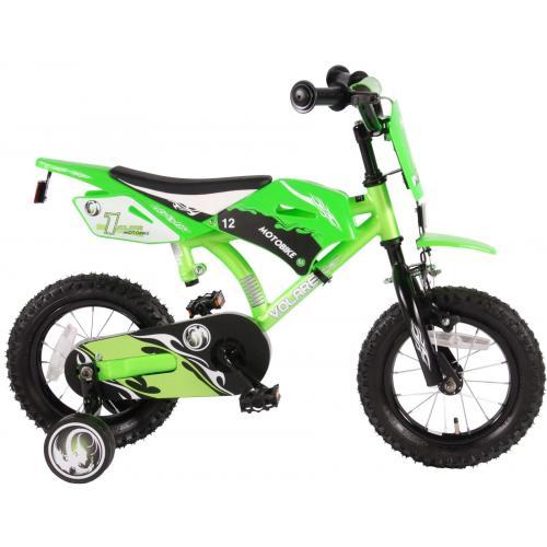 Volare Motobike Kinderfahrrad - Jungen - 12 Zoll - Grün - 95% zusammengebaut