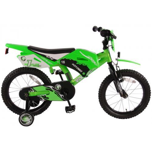 Volare Motobike Kinderfahrrad - Jungen - 16 Zoll - Grün - 95% zusammengebaut