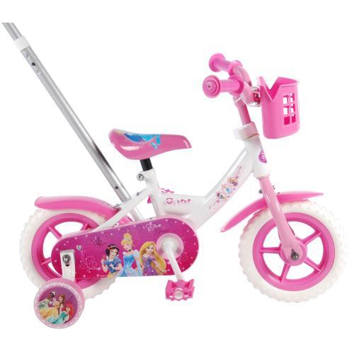 Disney Princess Kinderfahrrad - Mädchen - 10 Zoll - Pink / Weiß