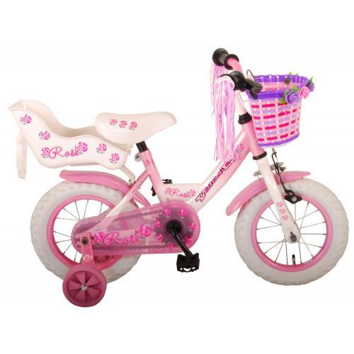 Volare Rose Kinderfahrrad - Mädchen - 12 Zoll - Pink - 95% Zusammengebaut