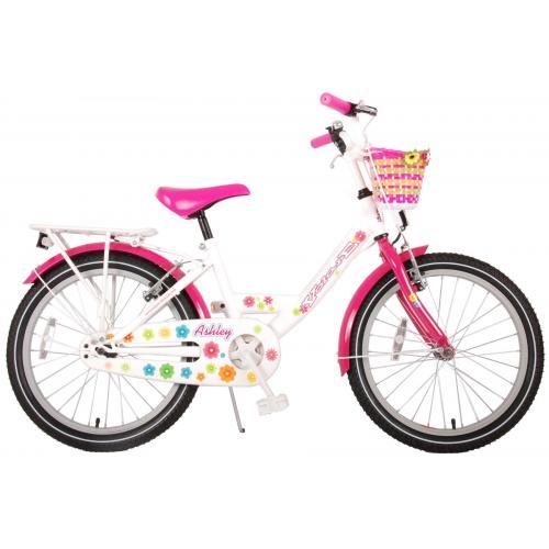 Volare Ashley Kinderfahrrad - Mädchen - 20 Zoll - Weiß / Pink - Zweihandbremsen