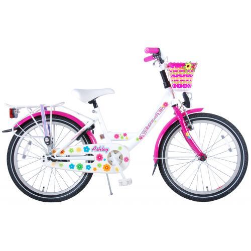 Volare Ashley Kinderfahrrad - Mädchen - 20 Zoll - Weiß / Pink - 95% zusammengebaut