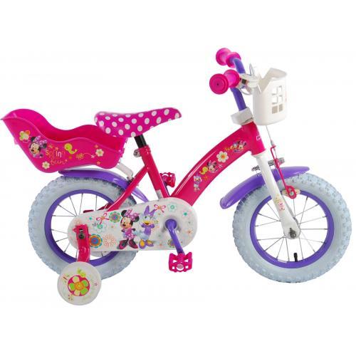 Disney Minnie Bow-Tique Kinderfahrrad - Mädchen - 12 Zoll - Pink Weiß