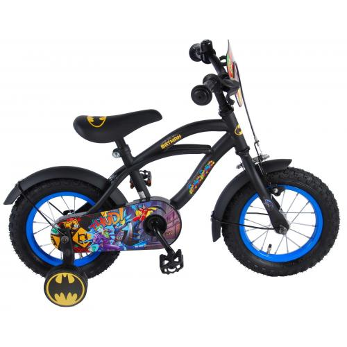 Batman Kinderfahrrad - Jungen - 12 Zoll - Schwarz