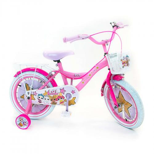 LOL Surprise Kinderfahrrad - Mädchen - 16 Zoll - Pink - 2 Handbremsen