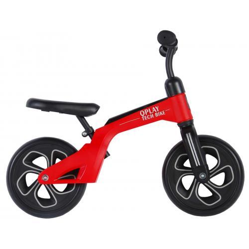 QPlay Tech Balance Bike - Jungen und Mädchen - 10 Zoll - Rot