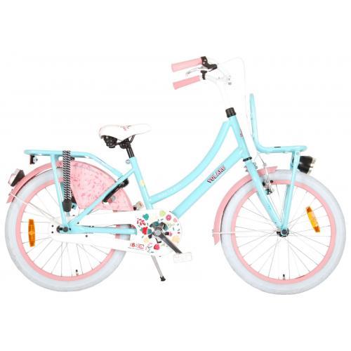 Volare Ibiza Kinderfahrrad - Mädchen - 20 Zoll - Blau / Pink - 95% zusammengebaut