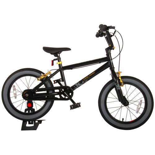 Volare Cool Rider Kinderfahrrad - Jungen - 16 Zoll - Schwarz - Zweihandbremsen - 95% zusammengebaut