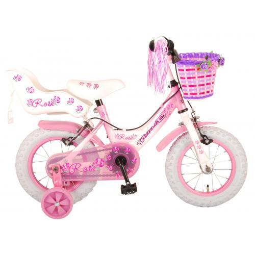 Volare Rose Kinderfahrrad - Mädchen - 12 Zoll - Pink - 2 Handbremsen