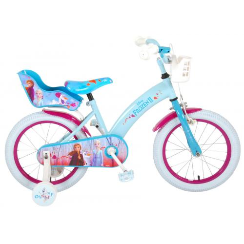 Disney Frozen 2 - Kinderfahrrad - Mädchen - 16 Zoll - Blau / Lila