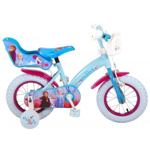Disney Frozen 2 Kinderfahrrad - Mädchen - 12 inch - Blau / Lila