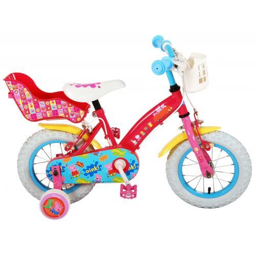 Peppa Pig Kinderfahrrad - Mädchen - 12 Zoll - Pink - 2 Handbremsen