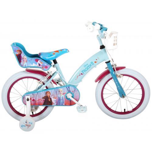 Disney Frozen 2 - Kinderfahrrad - Mädchen - 16 Zoll - Blau / Lila - 2 Handbremsen