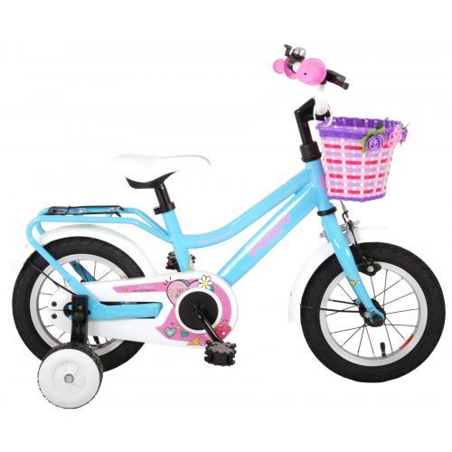 Volare Brilliant Kinderfahrrad - Mädchen - 12 Zoll - Blau - 95% zusammengebaut