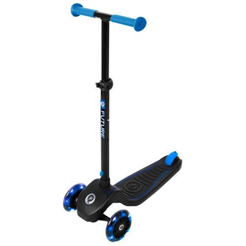 QPlay Future Roller - Jungen und Mädchen - Schwarz mit Blau - Led Lighting