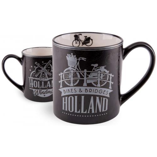Tasse - Holland - Schwarz Silber