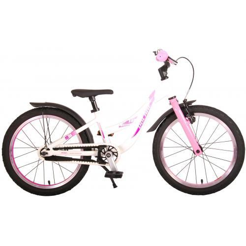 Volare Glamour Kinderfahrrad - Mädchen - 18 Zoll - Perlmutt Rosa - Prime Collection
