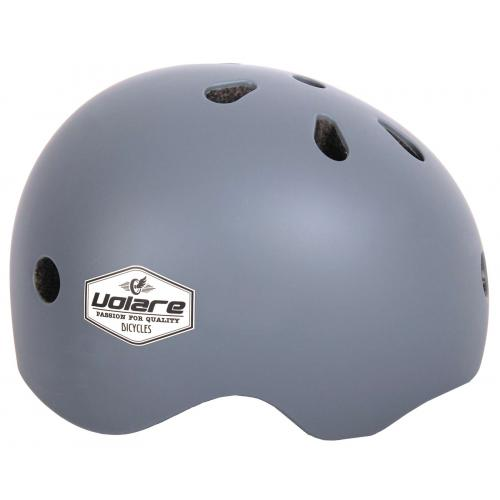 Volare Fahrradhelm - Kinder - Grau - 51-55 cm