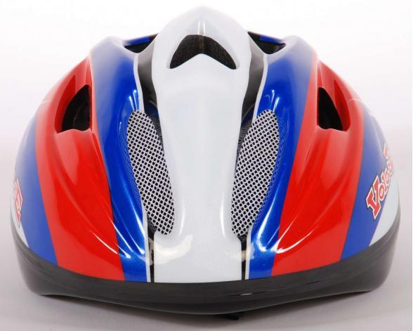 Volare Fahrradhelm Deluxe - Rot Blau Weiß - 51-55 cm