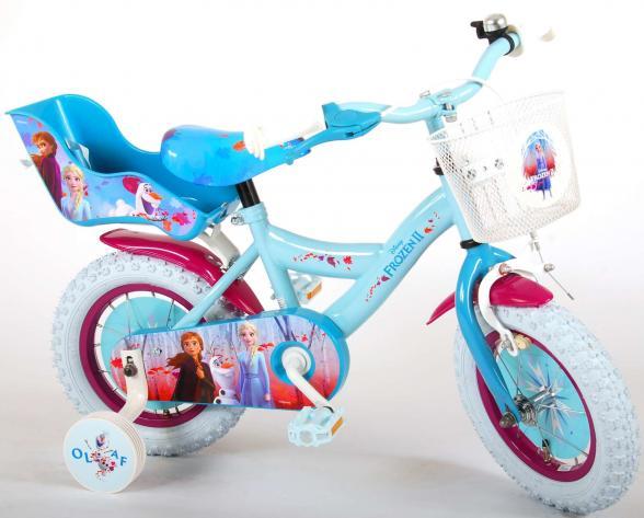 Disney Frozen 2 Kinderfahrrad - Mädchen - 30 cm - Blau / Lila - 95% zusammengebaut