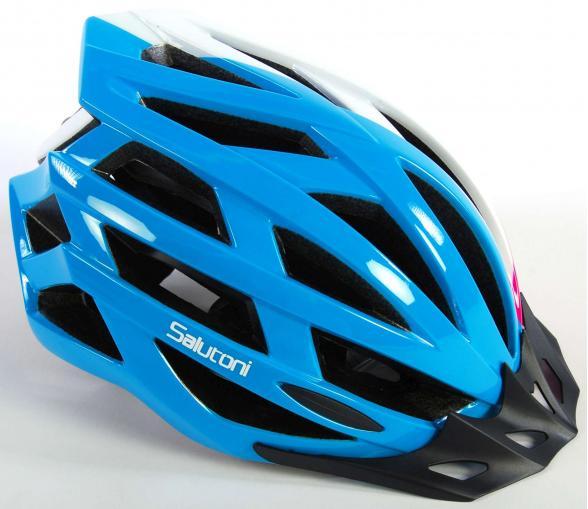 Salutoni Damen Fahrradhelm Blau Weiß Rosa 54-58 cm