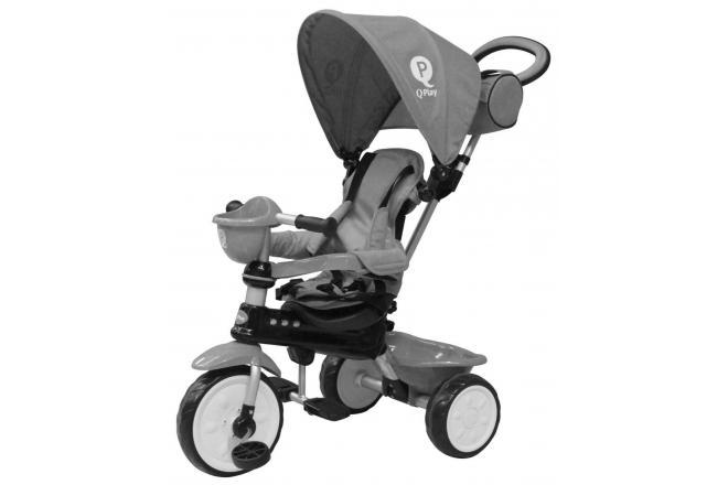 QPlay Dreirad Comfort Grau 4 in 1