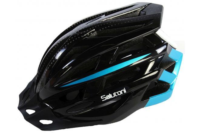 Salutoni Herren Fahrradhelm Schwarz Blau 54-58 cm