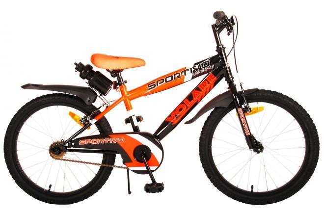 Volare Sportivo Kinderfahrrad - Jungen - 20 Zoll - Neon Orange Schwarz - Zwei Handbremsen [CLONE]